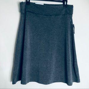 NWT Old Navy Gray Foldover Waistband Skater Skirt